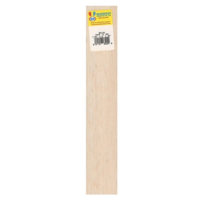 Midwest Balsa Sheets 1/32 In. 2 In. X 36 In. [Pack Of 10] (10PK-6201)