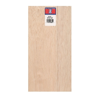 Midwest Balsa Sheets 1/8 In. 6 In. X 36 In. [Pack Of 5] (5PK-6604)
