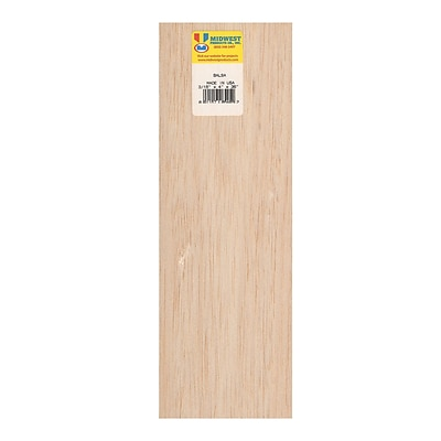 Midwest Balsa Sheets 3/16 In. 4 In. X 36 In. [Pack Of 5] (5PK-6405)