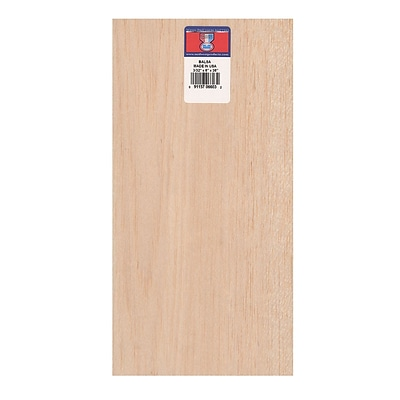Midwest Balsa Sheets 3/32 In. 6 In. X 36 In. [Pack Of 5] (5PK-6603)