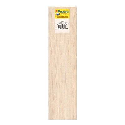 Midwest Balsa Sheets 3/8 In. 3 In. X 36 In. [Pack Of 5] (5PK-6308)