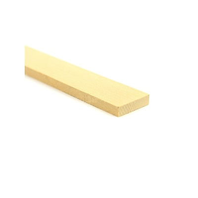 Midwest Basswood Sheets 1/4 In. 1 In. X 24 In. [Pack Of 10] (10PK-4106)