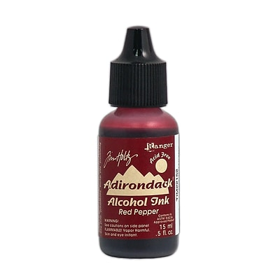 Ranger Tim Holtz Adirondack Alcohol Inks Red Pepper Earthtones 0.5 Oz. Bottle [Pack Of 6] (6PK-TIM22152)