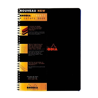 Rhodia 4 Color Book 9 In. X 11 3/4 In. Black (193309)