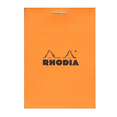 Rhodia Classic French Paper Pads Graph 3 In. X 4 In. Orange [Pack Of 12] (12PK-11200)
