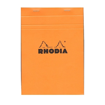 Rhodia Classic French Paper Pads Graph 6 In. X 8 1/4 In. Orange [Pack Of 4] (4PK-16200)