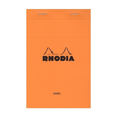 Rhodia Classic French Paper Pads Ruled 3 1/2 In. X 5 In. Orange [Pack Of 6] (6PK-14600)