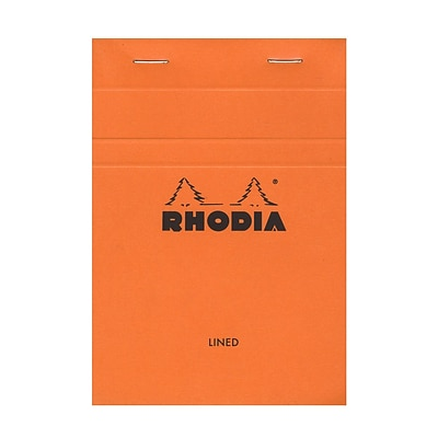 Rhodia Classic French Paper Pads Ruled 4 In. X 6 In. Orange [Pack Of 8] (8PK-13600)