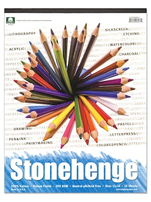 Rising Stonehenge Drawing Pads 11 In. X 14 In. 15 Sheets (l21 Stp250wh1114)