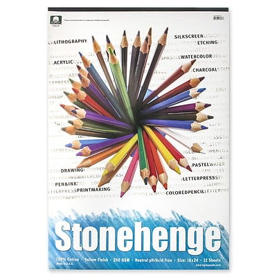 Rising Stonehenge Drawing Pads 18 In. X 24 In. 12 Sheets (L21-STP250WH1824)
