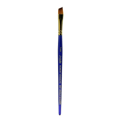 Robert Simmons Sapphire Series Synthetic Brushes Short Handle 3/8 In. Angle Shader S57 (215057010)