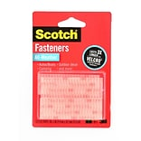 Scotch Fasteners 1 In. X 3 In. Strip (2 Sets) Clear All Weather [Pack Of 6] (6PK-RFD7090)