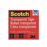 Scotch Transparent Tape 1/2 In. X 72 Yd. Refill Roll With 3 In. Core 600 [Pack Of 6] (6PK-6001236)