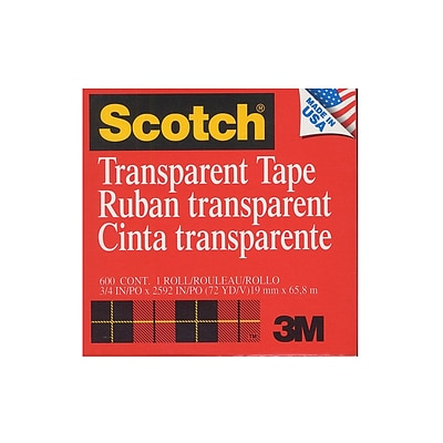 Scotch® Transparent Tape with Refillable Dispenser. 3/4 X 72 yds., 6 Rolls (6PK-6003472)