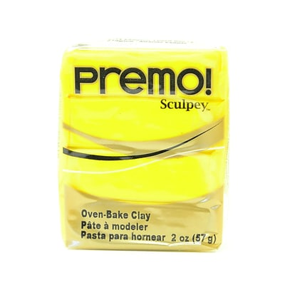 Sculpey Premo Premium Polymer Clay Cadmium Yellow Hue 2 Oz. [Pack Of 5] (5PK-PE02-5572)