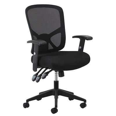 Stupendous Essentials By Ofm Ess 3050 Mesh Task Chair Adjustable Arms Black Home Interior And Landscaping Transignezvosmurscom