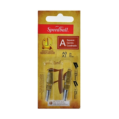 Speedball Lettering And Drawing Square Pen Nibs A Style A-0/A-1 Pack Of 2 [Pack Of 6] (6PK-31001)