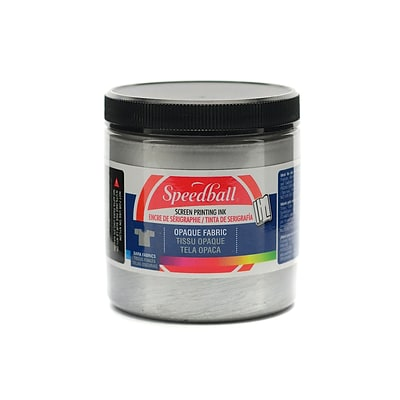 Speedball Opaque Fabric Screen Printing Inks Silver 8 Oz. [Pack Of 2] (2PK-4807)