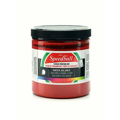 Speedball Water Soluble Screen Printing Ink Red 8 Oz. [Pack Of 2] (2PK-4541)