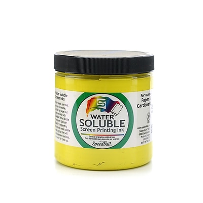 Speedball Water Soluble Screen Printing Ink Yellow 8 Oz. [Pack Of 2] (2PK-4545)