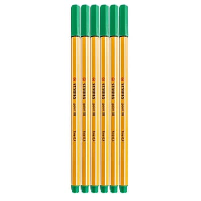 Stabilo Point 88 Pens Green No. 36 [Pack Of 20] (20PK-SW88-36)