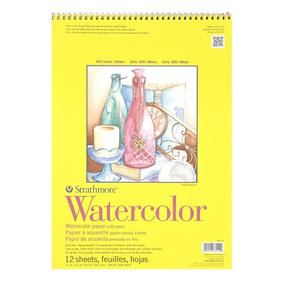 Strathmore 300 Series Watercolor Paper 11 In. X 15 In. Pad Of 12 Wire Bound [Pack Of 2] (2PK-360-11-1)