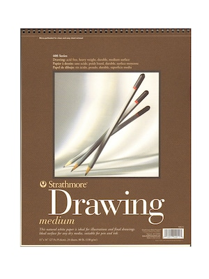 Strathmore 400 Series Drawing Paper Pad 11 In. X 14 In. [pack Of 3] (3pk 400 5 1)