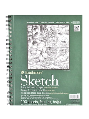 Strathmore Series 400 Premium Recycled Sketch Pads 9 In. X 12 In. 100 Sheets [pack Of 2] (2pk 457 9 1)