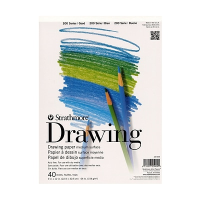 Strathmore Student Art Drawing Paper Pad 9 In X 12 In Pad Pack Of 6 6pk 25 009 1