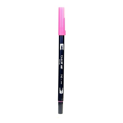 Tombow Dual End Brush Pen Hot Pink [Pack Of 12] (12PK-56583)
