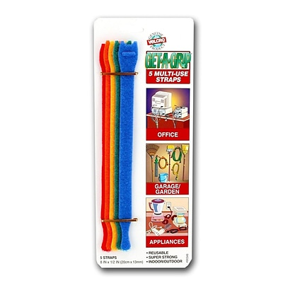 Velcro Get-A-Grip Straps Pack Of 5 [Pack Of 6] (6PK-90438)
