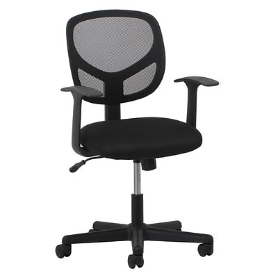Essentials by OFM ESS-3001 Mesh Task Chair Fixed Arms, Black