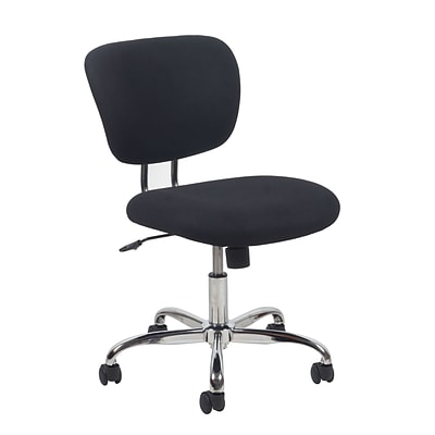 Essentials by OFM ESS-3090 Upholstered Task Chair Armless, Black
