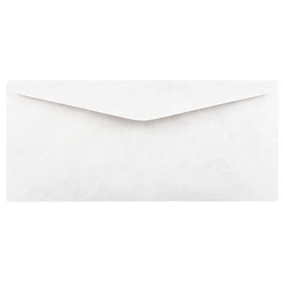 JAM Paper® Tyvek Envelopes, #9 Size, 3 7/8 x 8 7/8, White, 500/Box (2131080D)