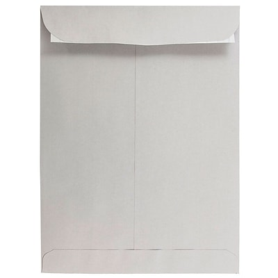 JAM Paper® 9 x 12 Open End Catalog Envelopes with Peel and Seal Closure, Light Grey, Bulk 500/Box (12931115)