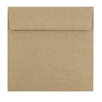 JAM Paper® Square Envelopes, 6 1/2 x 6 1/2, Brown Kraft Paper Bag Recycled, 500/Box (63131150H)