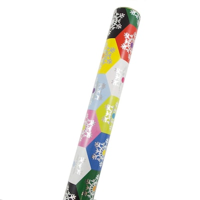 JAM Paper(r) Christmas Wrapping Paper, Colorful Honeycomb
