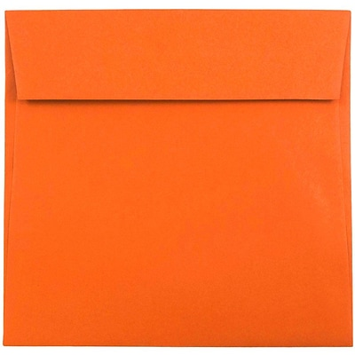 JAM Paper® Square Envelopes, 7 1/2 x 7 1/2, Mandarin Orange, 50/Pack (294431294I)