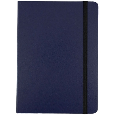 JAM Paper® Hardcover Notebook Journals with Elastic Band Closure, Blue, Medium, 5 x 7, Sold Individually (340526608)