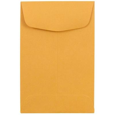 White JAM PAPER #1 Coin Business Envelopes 100//Box 2 1//4 x 3 1//2