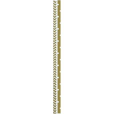 JAM Paper® Color Paper Straws, Gold Stripe Pattern and Dots, 24/Pack (52662006968)