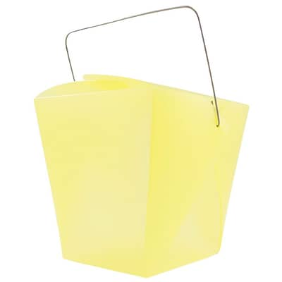 JAM Paper® Plastic Chinese Take Out Containers; Large, 4 x 3 1/2 x 4, Yellow, 6/Pack (2962553I)