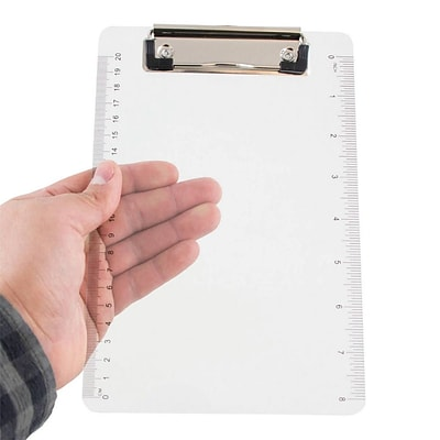 JAM Paper® Small Plastic Clipboards, 6 x 9, Clear, 1/PK (331CPMCL)