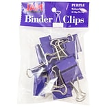 JAM Paper® Binder Clips; Medium, 1.25/32mm, Purple, 15/Pack (339BCPU)