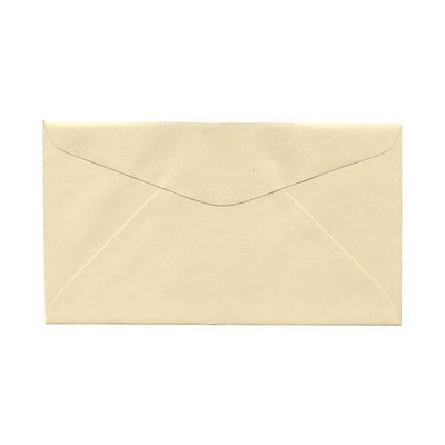 JAM Paper® #6 3/4 Commercial Envelopes, 3 5/8 x 6 1/2, Ivory, 25/Pack (357612640B)