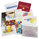 JAM Paper® Happy Birthday Card Assortment; 50/Pack (526AOA001WB)