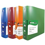 JAM Paper® Assorted 2 Inch Plastic 3 Ring Binders; Red, Green, Blue, Orange, 4/Pack (820T2ASSRT)