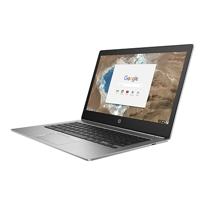 HP® Chromebook 13 G1 13.3 Notebook PC, LCD, Intel Core M7-6Y75, 32GB, 16GB, Chrome OS, Silver