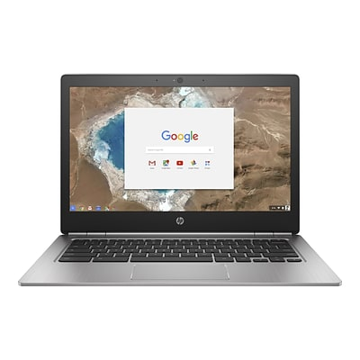 HP® Chromebook 13 G1 13.3 Notebook PC, LCD, Intel Core M5-6Y57, 32GB, 8GB, Chrome OS, Silver