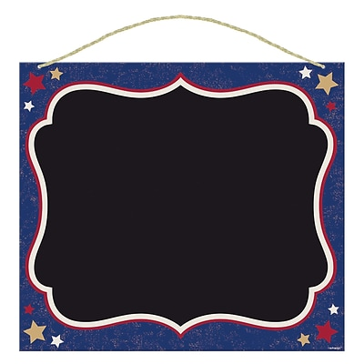 Amscan Americana Chalkboard, 14 x 15.75, Red/White/Blue, 3/Pack (210421)